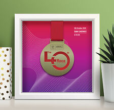 Virtual London Marathon Personalised Medal Frame 'line' - A unique gift!