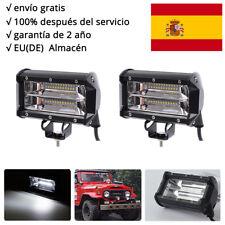2Pcs 72W LED barra de luz faro de trabajo FOCO Offroad 12V Proyector Jeep 5 inch