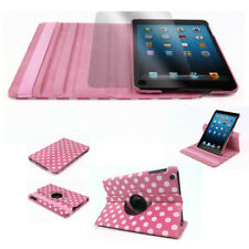 CASE COVER+SCREEN PROTECTOR SWIVEL STAND PU PINK DOT APPLE IPAD 2ND 3RD 4TH GEN