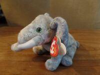 2002 TY Beanie Babies Pounds The Elephant Plush Stuffed Animal #2685