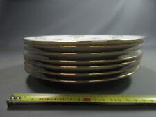 Lot de 7 anciennes assiettes porcelaine blanche liseret