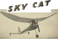 "Model Airplane Plans (FF): SKY CAT 49"" Class B by Anton Rafile (1942)"