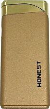 Honest Super Slim Jet Windproof Red Flame Lighter refillable Gold NEW