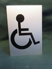 Disattivato (sedia a rotelle) Toilet segno SAA Stick 152 mm x 100 mm