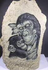 Chimpanzees Of Africa Resin Sculpture  Mother Chimp Holding An Infant