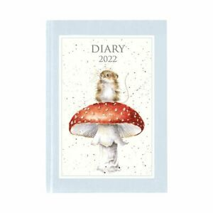 Wrendale Designs Desk Diary 2022 - Field Mouse on a Toadstool Decorated Planner