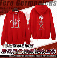 Anime Fate/stay night Sport Hooded Sweatshirt Casual Coat Pullover Top Red Hot