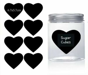 Heart Chalkboard Blackboard Chalk Board Stickers Craft Kitchen Jar Labels Tags