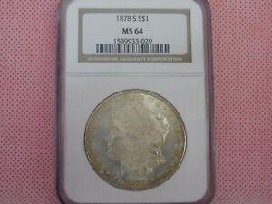 1878-S Morgan Silver Dollar, NGC MS-64!