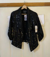 KAREN KANE Blushed Metal Sequin Jacket sz S, SMALL NWT