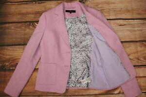 Next Tailoring Ladies Blazer Jacket Pink UK 10 33% Cotton