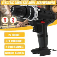 Electric Cordless Drill Driver Screwdriver LED Light 2-Speed without Battery