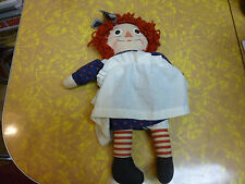 "Vintage 1960's Raggedy Ann 16"" I Love You Doll Old Nice condition"