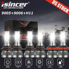 9005 9006 H11 Led Combo Headlight Fog Light Kit High Low Beam Bulb White 6000K (Fits: Lexus)