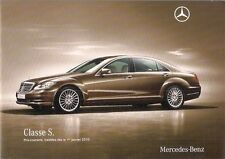 Mercedes-Benz S-Class 2010 Swiss Market Specification Brochure