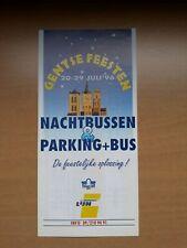 | De Lijn - folder Gentse Feesten nachtbussen & parking + bus 1996