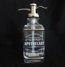 Bella Lux Glass Soap Pump Dispenser Dr Gnadendorff Apothecary Frosty White Scrip