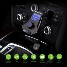 Bluetooth FM Transmitter Hands Free Car Kit Car Mp3 Player, 3 USB Charging Ports