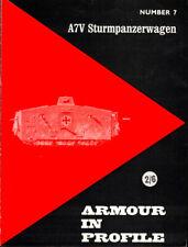 John Foley / Armour in Profile Number 7 A7V Sturmpanzerwagen 1967