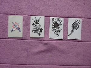 """DANDY GUM - TATTOOS x 4 ( 3 CARDS ARE """"B"""" NUMBERS  + 1 OTHER"""