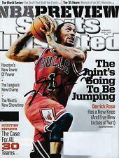GFA Chicago Bulls * DERRICK ROSE * Signed Autographed SI magazine COA
