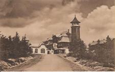 Keilberg Oberwiesenthal 1927 Schiller Zittau Sachsen Hotel Stempel Turm Mansarde