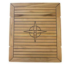 Teak Tischplatte klappbar versch. Größen Klapptisch Bootstisch Boot Tisch