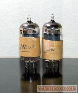 Matched Pair Sylvania 12ax7/ECC83 LONG plates tubes O-getter - Test NOS