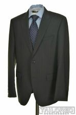 HUGO BOSS Recent Gray Striped 100% Wool Jacket Pants SUIT Mens - 42 R