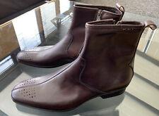 Brand New PAUL SMITH Leather Axel Brown Cuba Side Zipper Boots UK7 EU41