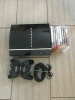 Sony PlayStation 3 PS3 160GB Fat Piano Black Console  CECHP01 Tested Working