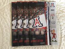2017 Arizona Football College Gameday Football Program with Ticket U of A vs NAU