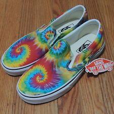 VANS Slip On Shoes Womens Sz 8 mens 6.5 Washied Tie Dye Multicolor Skate NEW