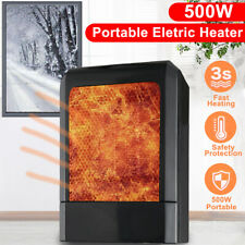 New 500W Mini Black Ceramic Electric Heater Home Office Heating Fan Small&Quiet