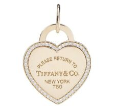 Tiffany Diamond Heart Tag Medium Rose Gold