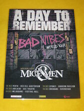 A Day To Remember - 2016 Australian Tour - Bad Vibes Tour Promo Poster