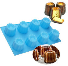 Muffin Jelly Canneles Silicone Mold Cake Baking Cup Pudding Silicone Cannele Pan