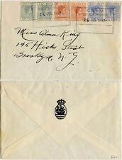 BAHAMAS 1939 SHIP SS CRIJNSSEN NETHERLANDS SEEPOST BOXED MARITIME CANCELS