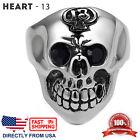 Men's Stainless Steel Gothic Halloween Biker Skull Ring (Size 7 - 15, US Seller)