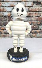 "Collectors Michelin Tires 7.5"" Figure Bobble Head Standing On A Tire Figurine A1"