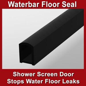 SHOWER SCREEN DOOR WATER BAR FLOOR SEAL BARRIER ALUMINIUM MATTE BLACK 14mm(h)