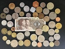 Lot of 50 East Asia World/Foreign Coins & 1 Banknote (Lot Ea2)