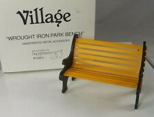 Dept 56 Heritage Village Wrought Iron Park Bench Christmas Village 52302