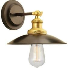 Progress Lighting Archives 1-Light Antique Bronze Wall Sconce w/ Metal Shade