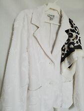 �Coldwater Creek�100% Cotton Blend Raised Emroidery Print Versati Jacket Sz 8