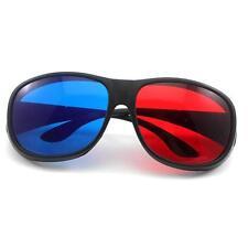 New Cool Fashion 3D Anaglyph Movie DVD Game Black Frame Red Blue Lens 3D Glasses