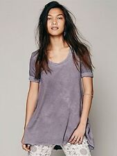 Free People XS Melrose Swing Tee Dye Grey (TAUPE) NWT Top Blouse T Shirt SIZE XS