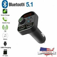 Bluetooth In-Car Wireless FM Transmitter MP3-Radio Adapter Car Kit 2 USB Charger