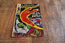 Amazing Spiderman #77 (Marvel, 1969) Human Torch Lizard Battle VG- condition