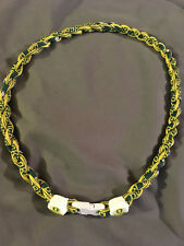 "OREGON DUCKS Green 22"" Titanium Double Rope NECKLACE NEW! FAST! FREE SHIP!"